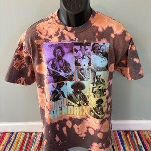 Jimi Hendrix Woodstock Tie Dye Band Shirt Large
